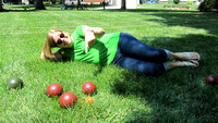 marilyn and Bocce Balls
